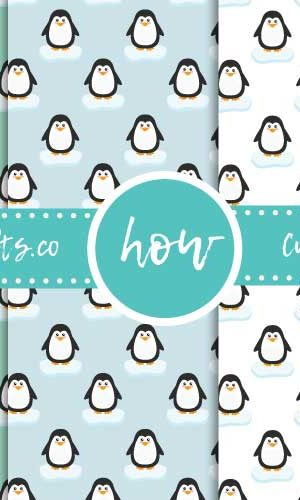 Cute Penguin Wrapping Paper