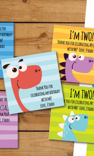 Cute Dino gift tags