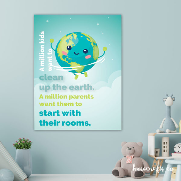 poster on world environment day with slogan