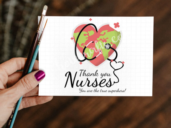 thank you nurses card